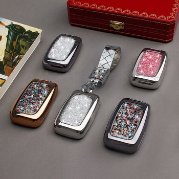 Car Key Case Diamond Crystal Shell Cover Special For Land Rover Range Rover Velar 5 Discovery 4 Evoque With KeyRing Buckle
