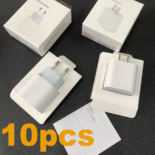 10pcs/lot 20w PD Charger Fast Charging Original EU US Plug For iPhone 12 11 pro max USB C Adaptor With Original Retail Packaging