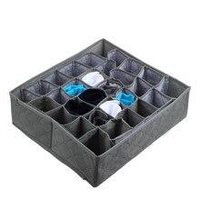 Складная коробка для хранения нижнего белья бамбуковый уголь Галстуки Носки ящик шкаф Органайзер чехол разделительная коробка для нижнего белья Organizador Cajones