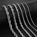 Jiayiqi 2mm-7mm Seil Kette Halskette Edelstahl Nie Verblassen Wasserdicht Choker Männer Frauen Schmuck Gold Silber farbe Ketten Geschenk