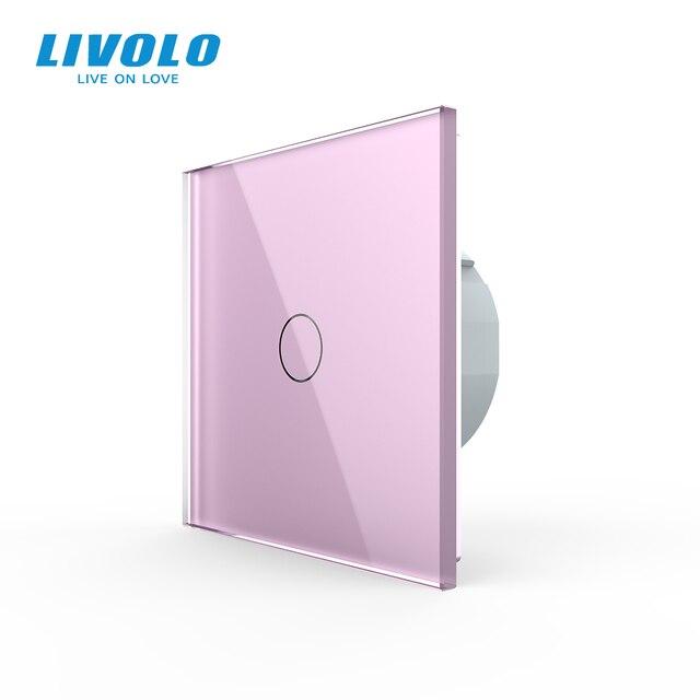 Livolo luxury Wall Touch Sensor Switch,Light Switch,Crystal Glass,Power Socket,multifunctional sockets,Free Choice,no logo