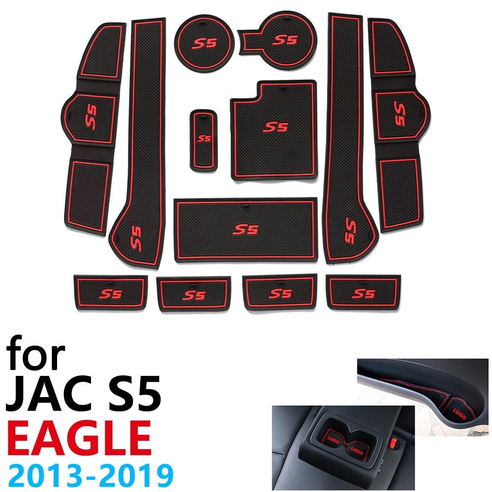 Противоскользящий резиновый коврик для двери JAC S5 Eagle Refine 2013 ~ 2019 аксессуары наклейки для автомобиля коврик для телефона 2015 2018|Наклейки на автомобиль|   | АлиЭкспресс