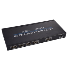 2X2 видео настенный контроллер 1 HDMI вход 4 HDMI выход 2X1/3X1/4X1/1X2/1X3/1X4 тв процессор изображения сшивание(штепсельная Вилка европейского стандарта