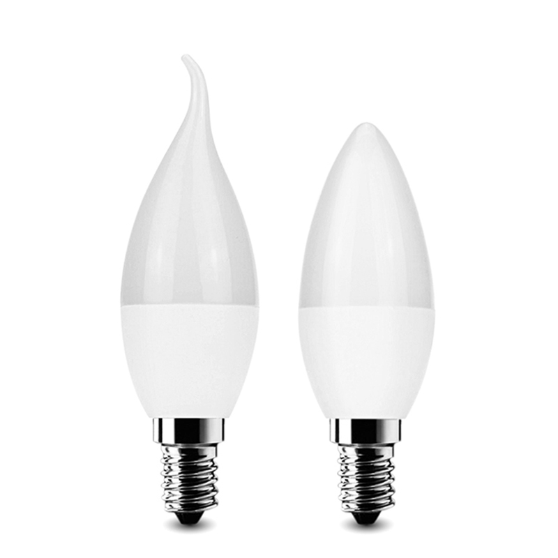 LED Candle Light Bulb Lamp E14 2835 SMD Warm/ Cool White Led Spotlight Chandelier Led Plastic Shell For Home Decoration