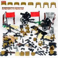 Oenux nouveauté WW2 sino-japonais guerre militaire scènes chinois huitième Route armée soldats avec des armes bloc brique jouet pour les enfants