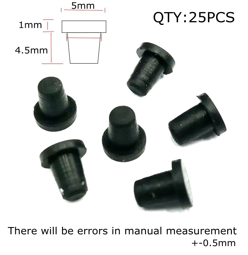 3.8mm Inkjet Printer Supplies Refitting Tool Accessories And Ciss Ink Tanks The Ink Cartridge Hole Black Rubber Sealing Plug