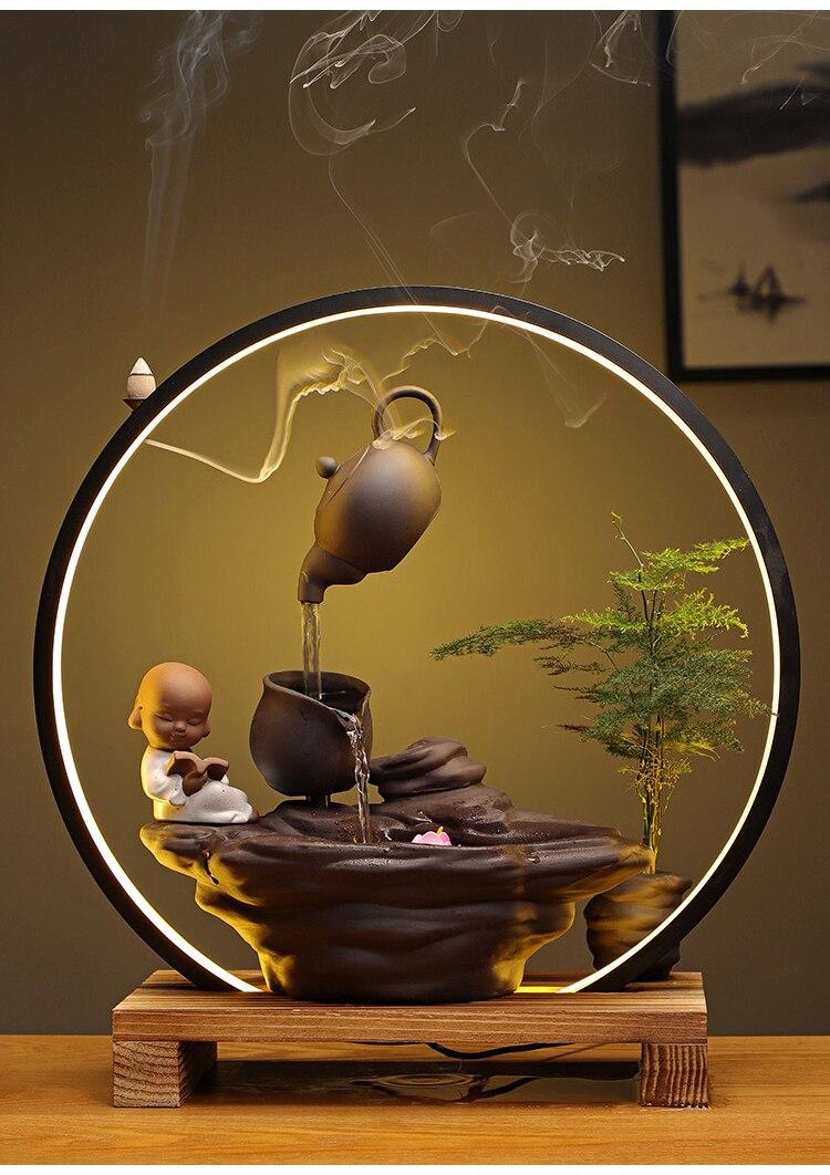 lâmpada anel cense queimador sorte feng shui ornamentos