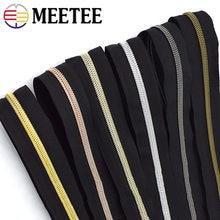 20 metros meetee 3 #5 # zíperes de náilon bobina zip open-end diy bolsa vestuário vestuário zíper costura acessórios