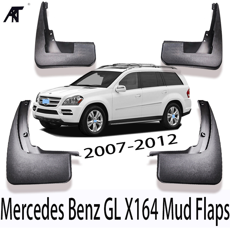 4PCS OEM Splash Mud Guards Mud Flaps FOR 2007-2012 Mercedes Benz GL X164 350 450 550 Car decoration Splash Mud Guards Mud Flaps image
