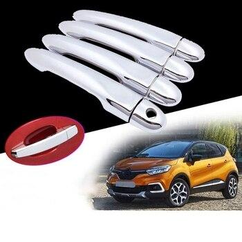Abs Chrome Car Door Handle Bowl Cover Decorative Trim Door Lock Sequin Sticker for Renault Captur