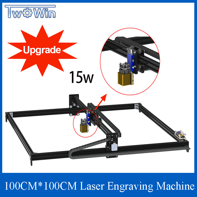1M*1M 2.5W 5.5W 15W CNC GRBL Laser Engraver Machine TTL /PWM Control DIY 100*100cm Engraving Machine Desktop CNC Router/Cutter