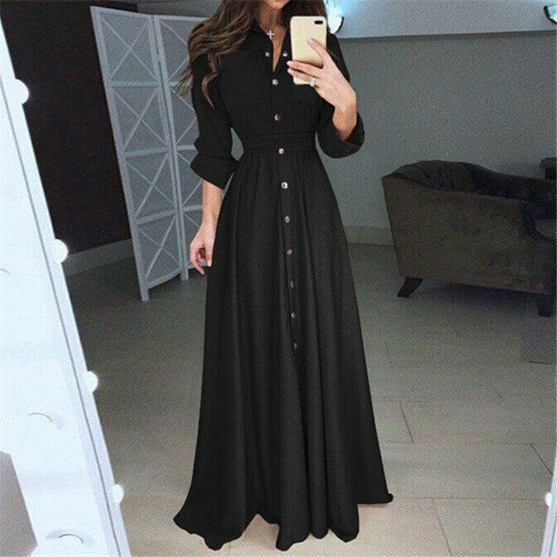 Women Dress Plus Size Ladies Dresses Long Sleeve Floral Boho Women Bodycon Maxi Dress Womens Clothing Evening Party Dresses