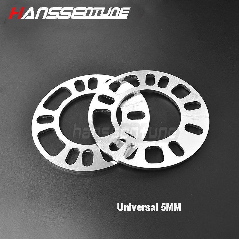 4 X 5mm BLACK UNIVERSAL ALLOY WHEEL SPACER SHIMS FOR FORD MUSTANG 15/>