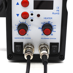Image 3 - 220 В 580 Вт паяльная станция 8586 2 в 1 SMD наладочная станция воздуходувка горячего воздуха Тепловая пушка + Электрический паяльник