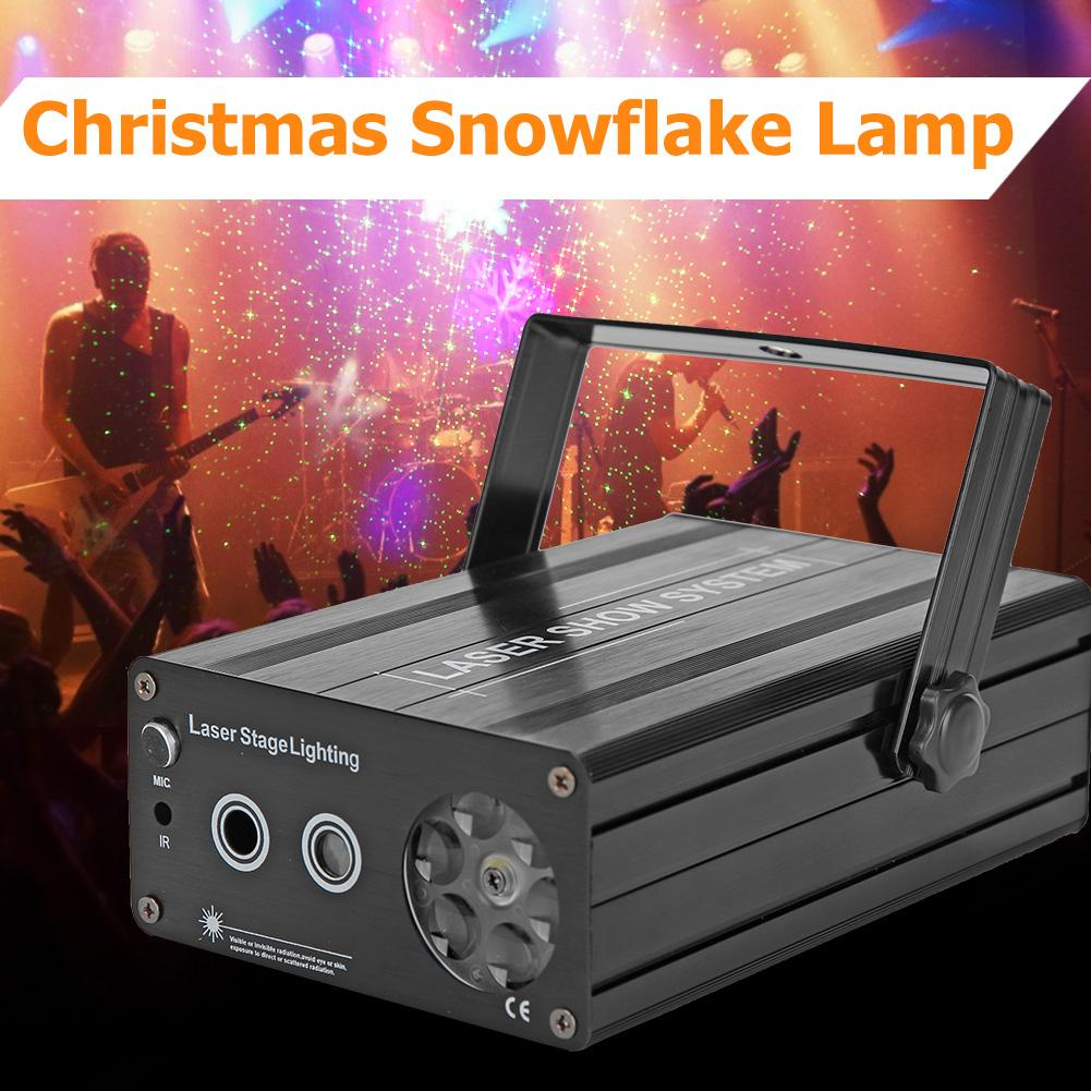 LED Snowflake Stage Laser Lamp Landscape Projector Lighting Voice Control More than 200 Laser Effects for Christmas Party