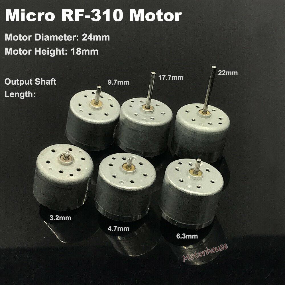 Микро-310 двигатель постоянного тока 3V 6V 9V D/V5.9 24 мм круглый мотор шпинделя RF-310T-11400 двигатель 2 мм Диаметр вал DIY игрушки на солнечной энергии