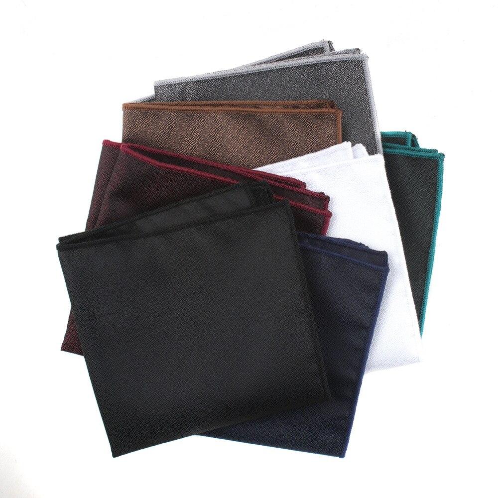 Linbaiway Men's Square Towel Polyester Silk Men's Hanky Suit Men's Business Wedding Pocket Towel Handkerchief Custom LOGO