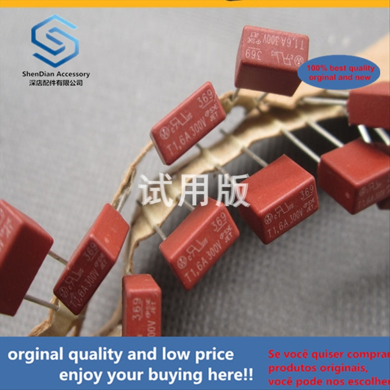 50pcs 100% Orginal New Best Quality Square Fuse Square Case --- Block T1.6A 300V 1.6A Slow-blow 369 Series