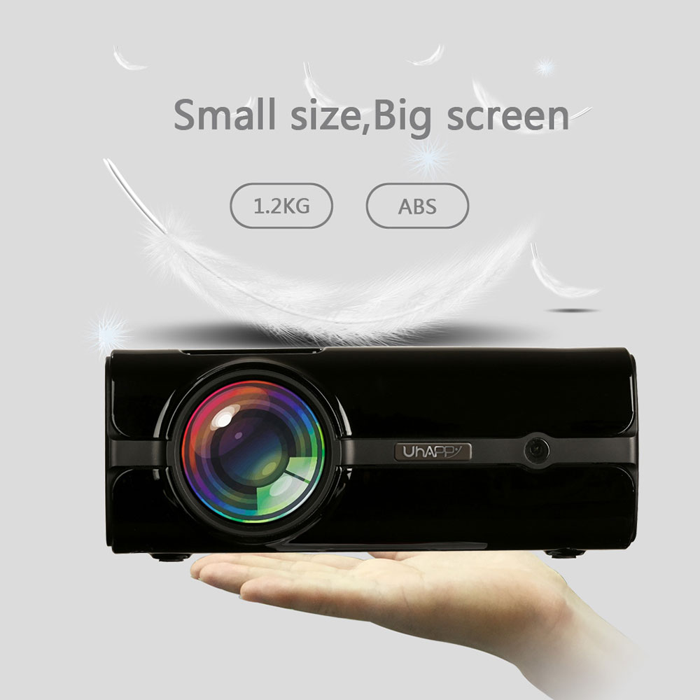 Portable Projector Home Cinema Mini Uhappy 1080P Hdmi-Cable VGA AV TV Led USB with U45 title=