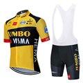 2020 TEAM JUMBO VISMAcycling jersey 20D bike Shorts set mtb Ropa männer sommer quick dry pro RADFAHREN shirts Maillot Culotte tragen
