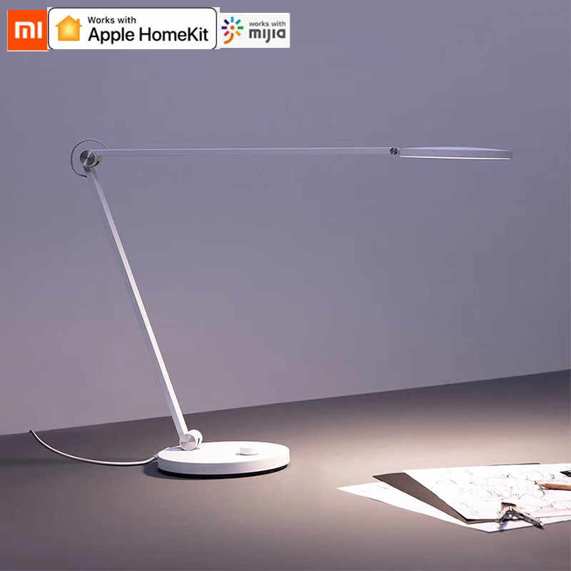 Xiaomi Mijia LED Meja Lampu Bluetooth Wifi Aplikasi Voice Remote Control Lampu Meja Bekerja dengan Apple Homekit Portable Eye-perlindungan