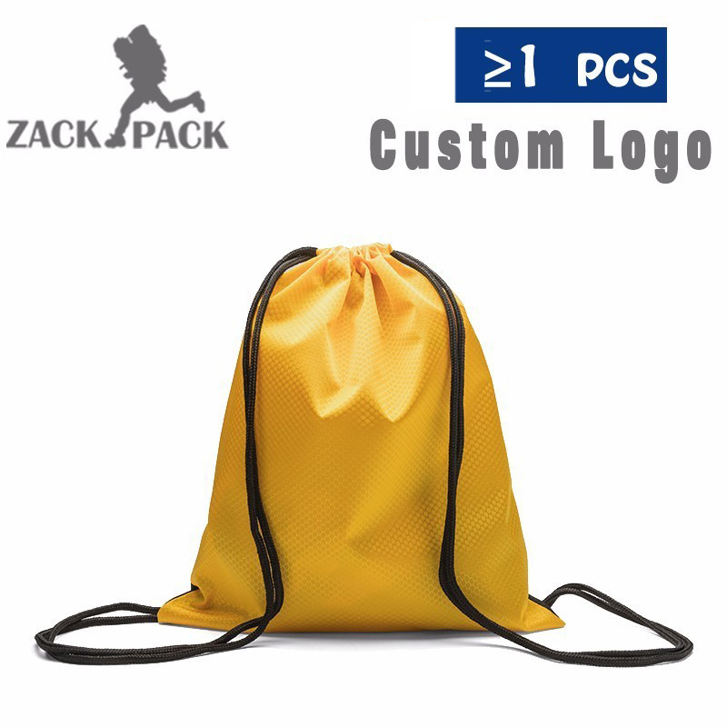 Drawstring Bag Waterproof Customize Logo Printing Backpack Nylon Small Sports Custom Printed Promotional Kids Cinch Sack Gym Boy