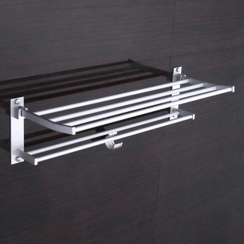 5 Hooks Wall Mounted Towel Rack Rails Bathroom Kitchen Hanging Holder Hanger