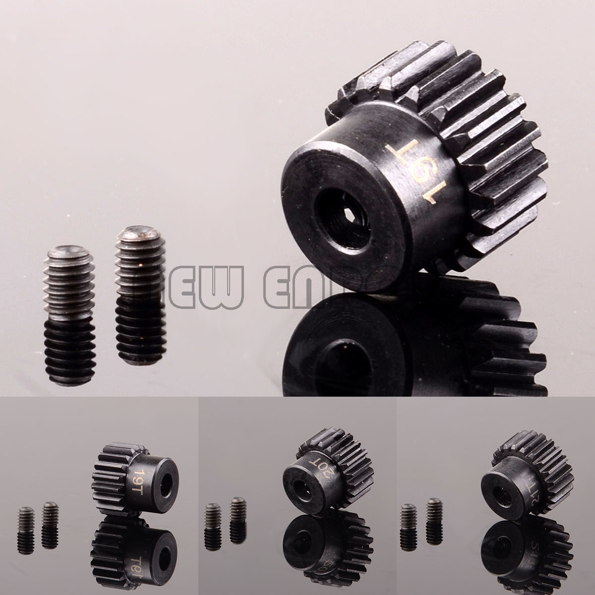 NEW ENRON Moter Gear/Pinion Gear 19T 20T 21T M0.8 32P 5MM TRV-(19-21)T FOR Traxxas Revo Summit Slash