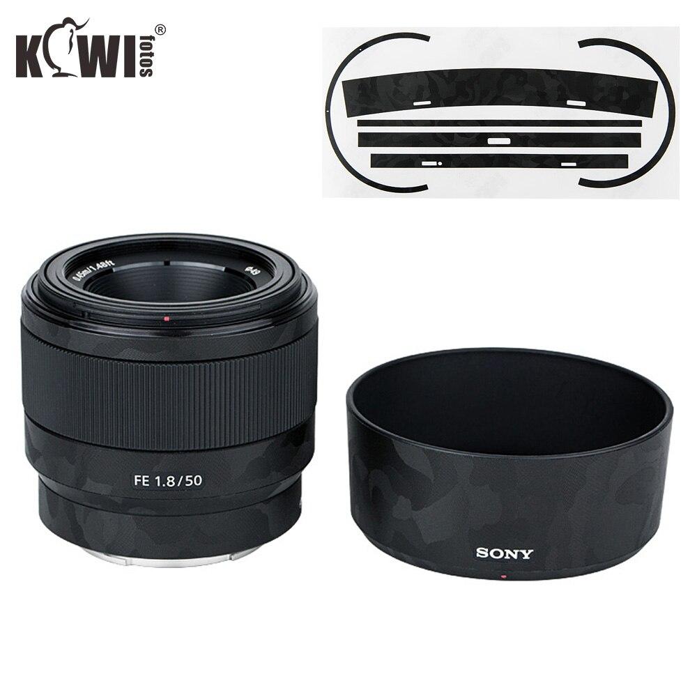 Anti-Scratch Camera Lens Skin Film Kit For Sony FE 50mm F1.8 (SEL50F18F) Lens & ALC-SH146 Lens Hood 3M Sticker Protector
