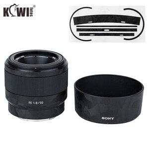 Image 1 - Anti kras Camera lens Huid Film Kit voor Sony FE 50mm F1.8 (SEL50F18F) lens & ALC SH146 Zonnekap 3M Sticker Protector