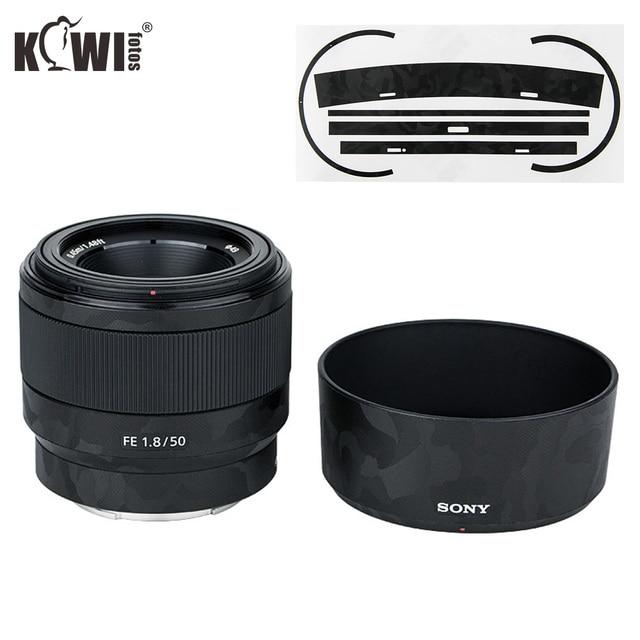 Anti kras Camera lens Huid Film Kit voor Sony FE 50mm F1.8 (SEL50F18F) lens & ALC SH146 Zonnekap 3M Sticker Protector