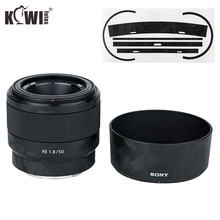 Chống Trầy Xước Ống Kính Máy Ảnh Da Phim Bộ Dành Cho Ống Kính Sony FE 50 Mm F1.8 (SEL50F18F) ống Kính & ALC SH146 Lens Hood 3M Dán Bảo Vệ