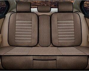 Image 5 - 亜麻カーシートは、完全囲まシートトヨタ、フォルクスワーゲン、スズキ起亜マツダ三菱アウディ日産シートクッション車のスタイリング
