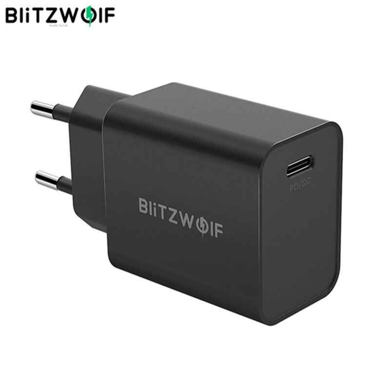 Универсальное зарядное устройство BlitzWolf, 27 Вт, QC4 + QC4.0, QC3.0, PD, Type C, USB, мобильный телефон