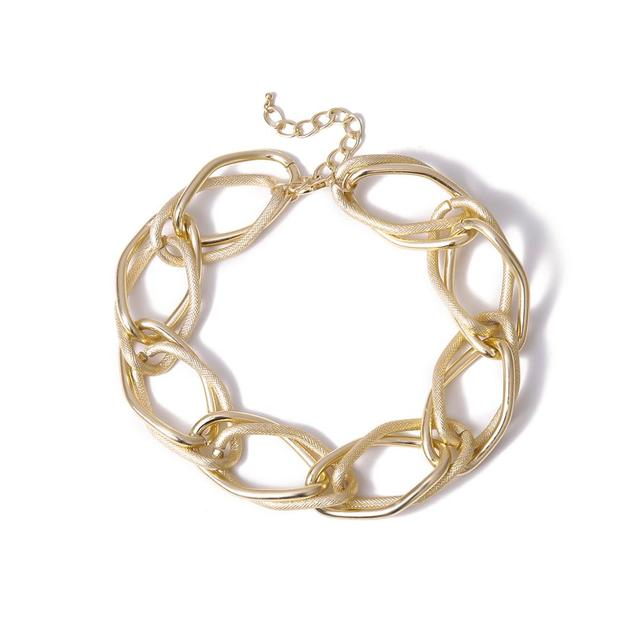 Multi Layered Golden chunky Chain Choker Necklace  5