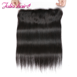 Malaysian Straight Silk Base Lace Frontal Free Part 150 Density Ali Julia Human Hair Ear to Ear Lace Frontal Closure Pre Plucked