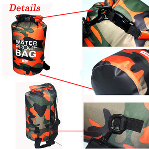 Image 5 - Outdoor Camouflage Waterproof Bag Portable Rafting Diving Dry Bag Sack PVC Folding Swimming Storage Bag for River Trekking 20L