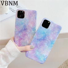 Purple Sea Shell Silicone Case for iPhone 11 2019 iPhone 11 Pro Max Fashion Soft Case for iPhone XR X XS Max 7 8 Plus 6 6s Cover iphone 6s slim case sea waves