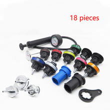 18pcs/set Pressure Testing Hand Gump with Gauge Cooling System Pressure Compression Tester Car Repair Leak Detector #806 free shipping 50kg 5 0mpa with 42mm pipe cutter manual water pressure testing pump machine ppr pipe pressure leak detector