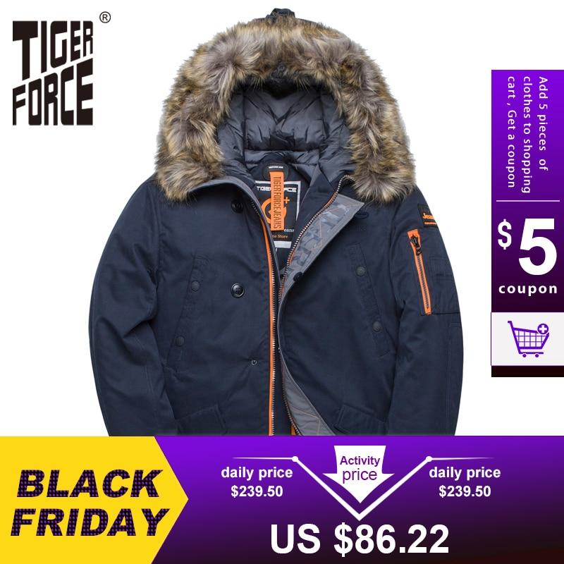 TIGER FORCE Winter Jacket Men Padded Parka Russia Man Winter Coat Artificial Fur Big Pockets Medium long Thick Parkas Snowjacket|winter jacket men|tiger forcemens pad - AliExpress