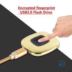 Szyfrowane linii papilarnych USB3.0 U dysku 16GB 32GB 64GB metalowa pamięć USB Flash Pendrive Pendrive z kablem USB