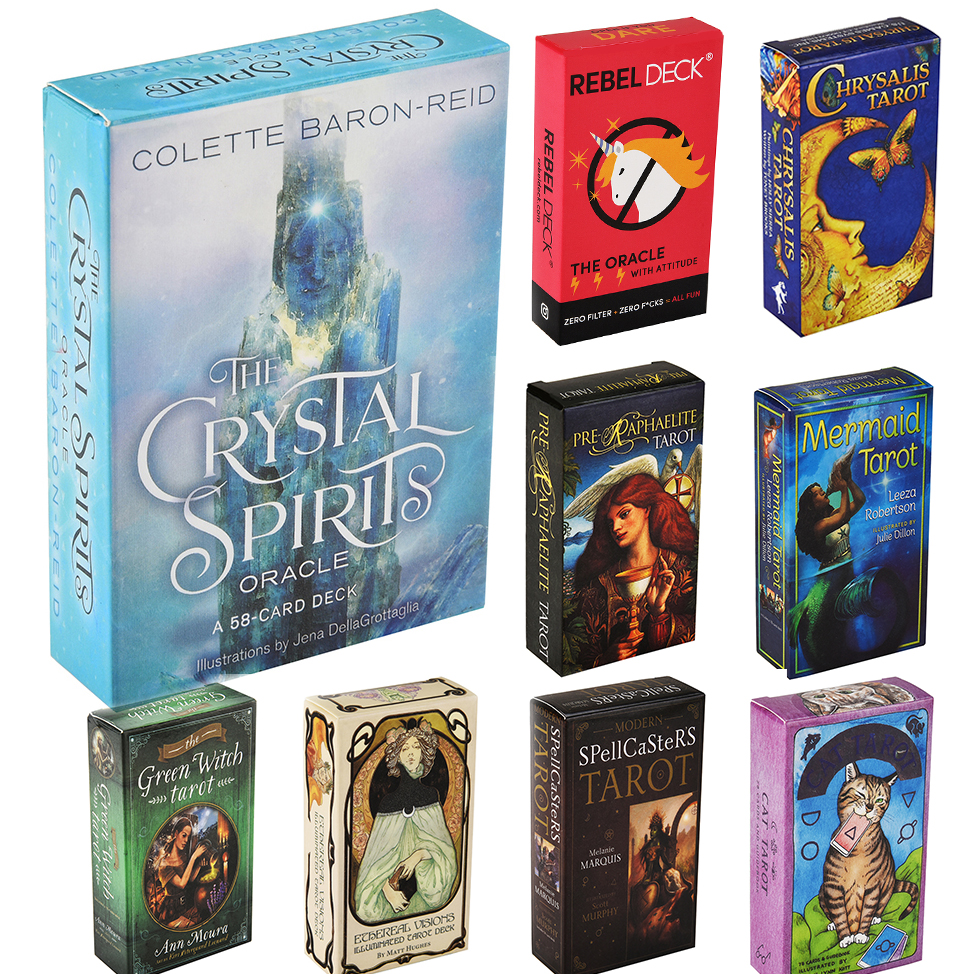 Crystal Spirits Oracles REBEL DECK Mermaid Pre-Raphaelite Akashic Green Witch Ethereal Vision Illuminated Chrysalis Del Fuego