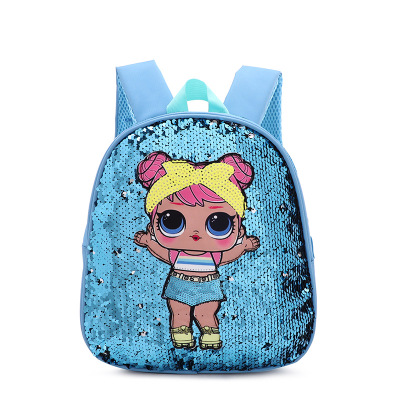 Backpack Rucksack Sequin-Bag Drawstring Lunch Character Toddlers School Cartoon Childrens