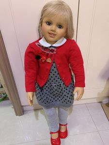 Image 1 - Muñeca Rubia de silicona suave de 70CM para niñas, juguete de princesa de tamaño real, para fotos, regalo de Navidad