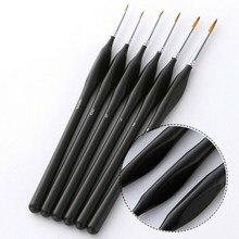 Premium Brushes Artist Paint Fine Detail Watercolour Set of 6 for Acrylic
