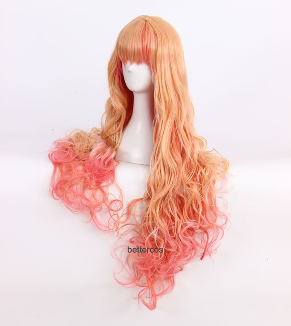 Disfraz de Peluca de Pelo Largo con Anime japonés Macross F Sheryl Nome cosplay peluca Macross Frontier
