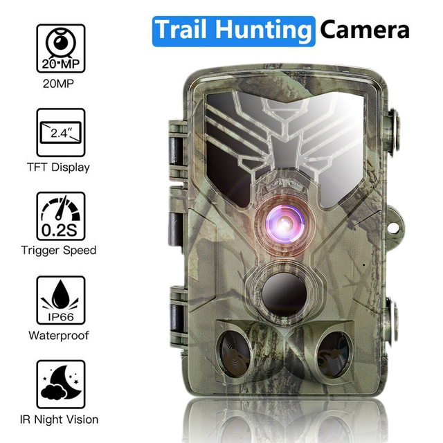HC-810A 1080P 20MP HD Hunting Wildlife Camera Scouting Trail Camera Wildview PIR Motion Night Vision Camera Home Safe Game Cam