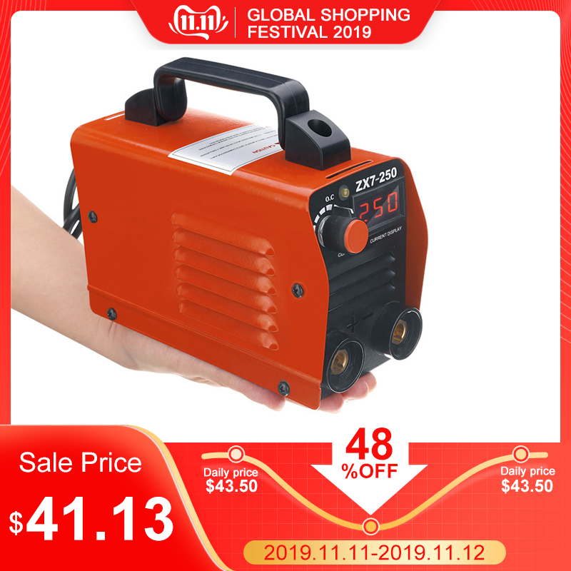 Новый ZX7 250 250A мини Электрический сварочный аппарат портативный цифровой дисплей MMA ARC DC инвертор пластик сварочное оборудование