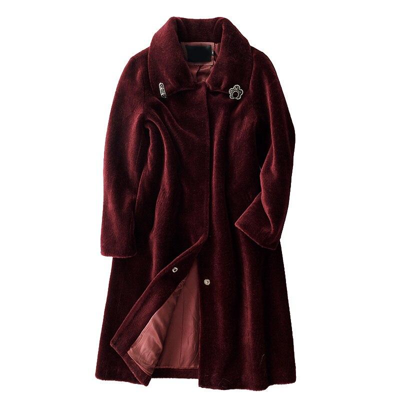 Autumn Winter Coat Women Clothes 2020 Korean Vintage Real Fur Coat 100% Wool Jacket Sheep Shearling Tops Manteau Femme ZT3774
