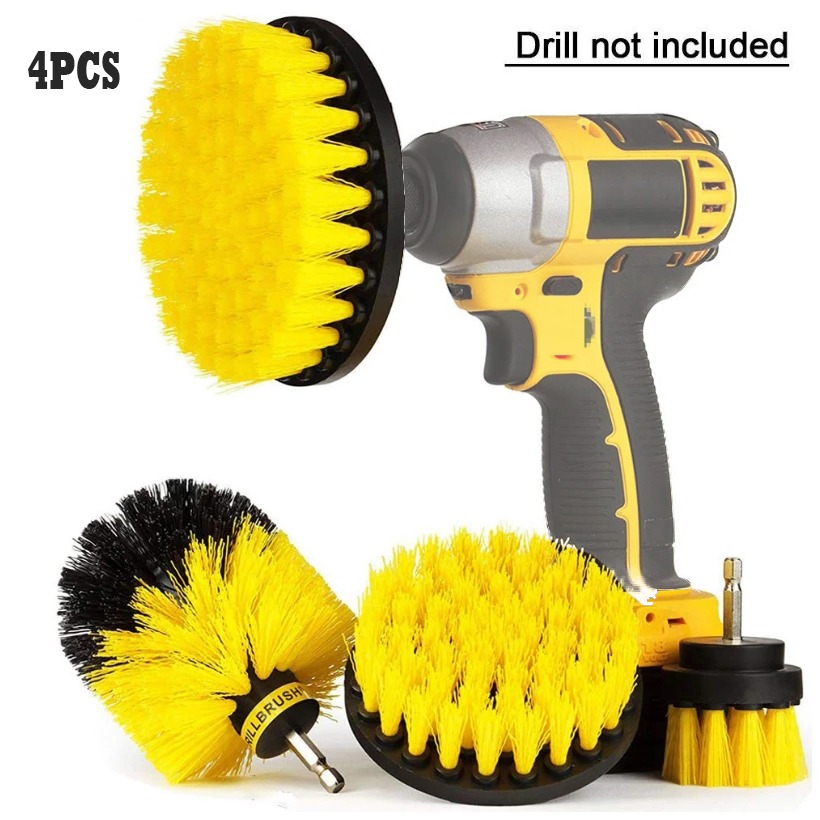 3/4/6 Pcs Drill Brush Cleaner Kit Power Scrubber for Cleaning Bathroom Bathtub Cleaning Brushes Scrub Drill Car Cleaning Tools